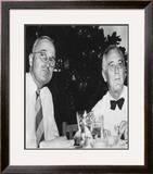 Harry Truman and Franklin D. Roosevelt Framed Photographic Print