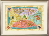 Marvelous Map of Oz Prints