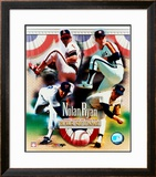Nolan Ryan - 4 Team Career H.O.F. Composite Framed Photographic Print