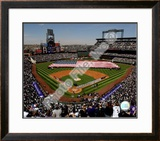 Coors Field 2008 Opening Day; Colorado Rockies Framed Photographic Print