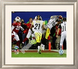 Santonio Holmes Game Winning Touchdown - Super Bowl XLIII Framed Photographic Print