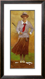 Vintage Woman Golfer Print by Bart Forbes