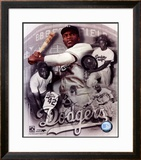 Jackie Robinson Legends Composite - ©Photofile Framed Photographic Print