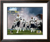 Patriots Introduction - Super Bowl XXXIX - Tom Brady leads Patriots out of tunnel onto field Framed Photographic Print