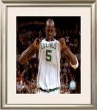 Kevin Garnett 2007-08 Playoffs Celebration Framed Photographic Print