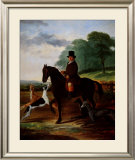 Huntsman with his Greyhounds Print by William Henry Knight
