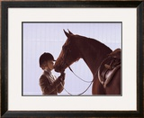 A Kiss for Luck Framed Giclee Print by Scott Trees