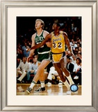 Larry Bird And Magic Johnson Framed Photographic Print