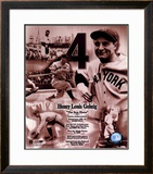 Lou Gehrig - Legends of the Game Composite - ©Photofile Framed Photographic Print