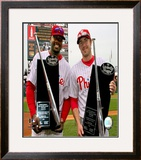 Ryan Howard and Chase Utley Framed Photographic Print