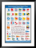 International Flags Naval Signal Poster