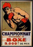 Championnat Boxing Posters