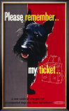 Please Remember My Ticket, BR Poster, circa 1950s Framed Giclee Print