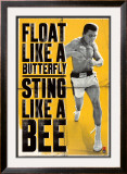 Muhammad Ali - Float like a Butterfly Posters