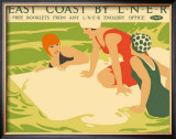 East Coast by LNER Framed Giclee Print by Tom Purvis