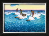Surf Riders Honolulu Prints by Charles W. Bartlett
