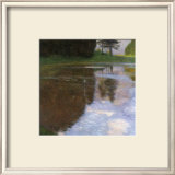 A Morning by the Pond Framed Giclee Print by Gustav Klimt