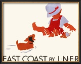 East Coast by LNER, LNER Poster, circa 1935 Framed Giclee Print by Tom Purvis