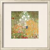 Flowery Garden Art by Gustav Klimt
