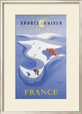 Sport d'Hiver en France Framed Giclee Print by Bernard Villemot