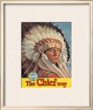 Santa Fe Railroad: The Chief Way, c.1955 Framed Giclee Print