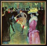 Dance at Moulin Rouge Framed Giclee Print by Henri de Toulouse-Lautrec