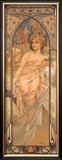Eveil du Matin Framed Giclee Print by Alphonse Mucha