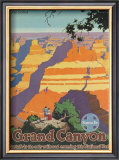 Santa Fe Railroad: Grand Canyon National Park, Arizona Art by Oscar M. Bryn