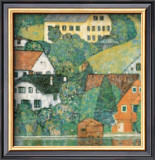 Houses at Unterach Posters by Gustav Klimt