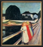 Four Girls on a Bridge Posters by Edvard Munch