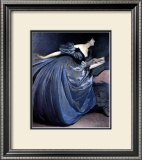 Althea Reading in Blue Dress Poster by John White Alexander