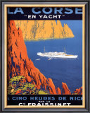Corse En Yacht Print by Hoock 