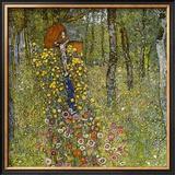 Farm Garden with Crucifix Framed Giclee Print by Gustav Klimt