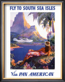 South Sea Isles via Pan Am Framed Giclee Print by Paul George Lawler