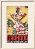 Granada Fiestas Del Santisimo Corpus Christi Poste Framed Giclee Print by  Puya