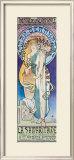 Theatre de la Renaissance Framed Giclee Print by Alphonse Mucha