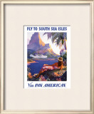 South Sea Isles via Pan Am Print by Paul George Lawler
