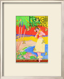 Hawaii, Romantic and Beautiful Print
