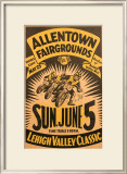 Allentown, PA Framed Giclee Print