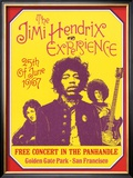 Jimi Hendrix, Free Concert in San Francisco, 1967 Posters by Dennis Loren