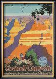 Santa Fe Railroad: Grand Canyon National Park, Arizona Prints by Oscar M. Bryn