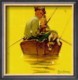 Fish Finders Prints by Norman Rockwell