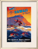 Fly to Hawaii Framed Giclee Print by M. Von Arenburg