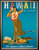 Hawaii by Clipper Framed Giclee Print by  Atherton