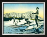 Sea Gods Framed Giclee Print by Frank S. Warren