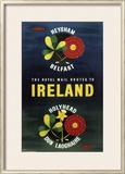 The Royal Mail Routes to Ireland, British Rail, c.1957 Framed Giclee Print
