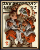 Santa&#39;s Lap, c.1923 Framed Giclee Print by Joseph Christian Leyendecker