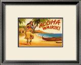 Aloha Waikiki Print