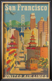 United Airlines: San Francisco, c.1950 Print by Stan Galli