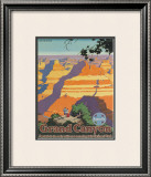 Santa Fe Railroad: Grand Canyon National Park, Arizona Framed Giclee Print by Oscar M. Bryn